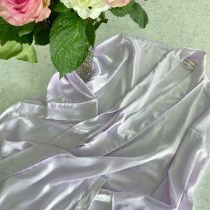 Victoria's Secret Y2K lavender satin lounge robe